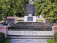 Monument to soldiers the victim at clearing city in 1944