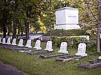 Cemetery of soldiers of victims at clearing city in 1944.